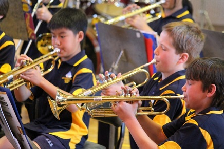 Year 5 band members at the 2012 ACT School Bands Festival